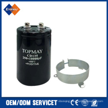 250V 10000UF Screw Terminal Aluminum Electronic Capacitor