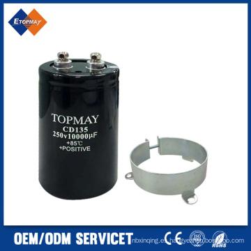 250V 10000UF tornillo Terminal aluminio condensador electrónico