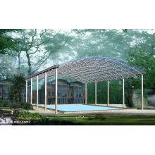 Techo del marco del espacio de la piscina prefabricada de construcción de gran tamaño