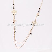 2015 NK002 Großhandelslange Halsketten-Strickjacke-Ketten-Retro- Art-Halskette für Strickjacke-Kettenperlen-Dekoration-Kette