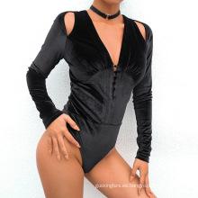 Top de body de adelgazamiento con cuello en V profundo para mujer personalizado