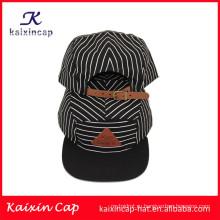 Оптовая продажа OEM красивый хлопок обычный счет 5 штук campingr шапки с кожаными отверстиями застежка сзади