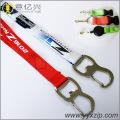 Silk screen metal hook lanyards with custom