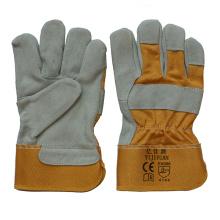 En 388 Anti-Scratch vaca Split cuero de mano de protección resistente al trabajo trabajador guantes de trabajo