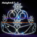 Crystal Crowns with Big Clear Diamond