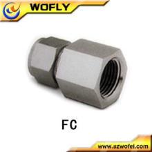 AFK Conector hembra de acero inoxidable intercambiable con Swagelok Racores de tubo