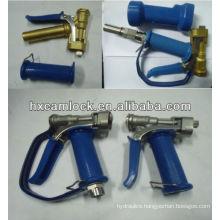 Washdown gun with blue silica gel cover