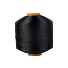 Warp weaving yarn FDY 100D  bright dope dyed DDB black twist polyester filament polyest fdi yarns price per kg