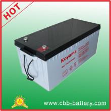 Batterie profonde de cycle 12V200ah, batterie solaire industrielle de stockage avec du CE, UL, ISO19001