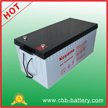 Bateria profunda 12V200ah do ciclo, bateria de armazenamento solar industrial com CE, UL, ISO19001