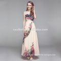 Mode Brautkleid Aprikose Boden Länge Kleid mit Spitze