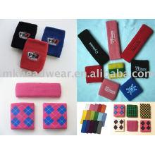 Bracelets et bandeaux tricotés en coton / logo client