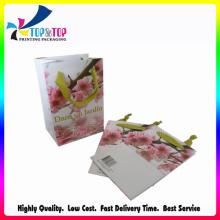 Saco de compras fabricante grossista saco de papel dobrável extravagante