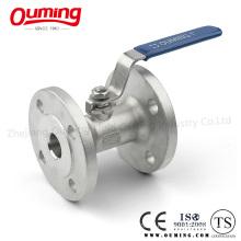 Válvula de esfera de extremidade de flange de aço inoxidável de uma peça