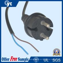 Conector de clavija de CA de cable de alimentación VDE europeo con cable