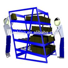Prateleiras industriais do rolamento, cremalheira longa do fifo do fluxo da caixa da engrenagem do armazenamento da carga
