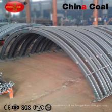 Soporte de arcos de acero U29 personalizado con abrazaderas