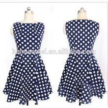 Señoras del diseñador de moda del verano vestido recto Mujeres polka Dot manga completa hasta la rodilla Dresse recto para la oficina