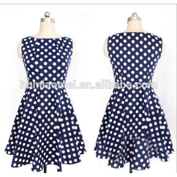 Summer Fashion designer dames robe droite Femmes Polka Dot Full Sleeve au genou Straight Dresse pour le bureau