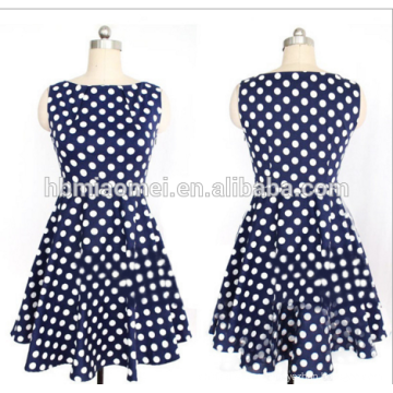 Summer Fashion designer ladies straight dress Women polka Dot Full Sleeve Knee-Length Straight Dresse for office