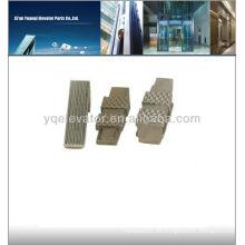Almohadillas de freno de elevador, seguridad del elevador Pastillas de freno