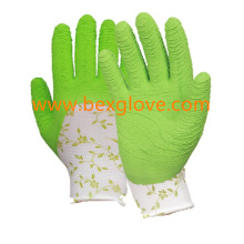 Flower Garden Glove, Latex Working Glove