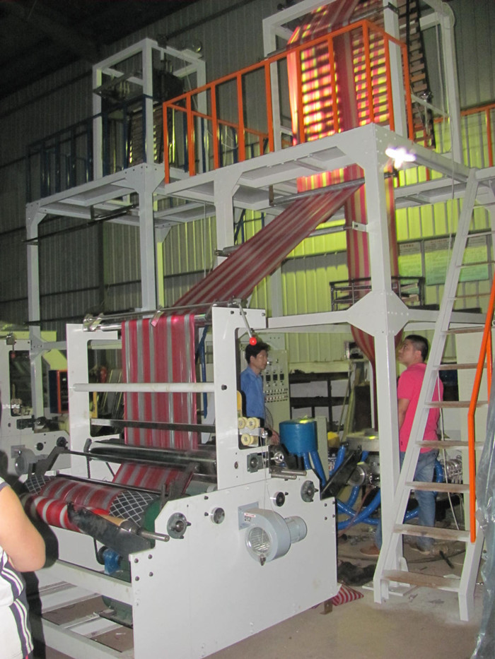 double color stripped film blowing machine