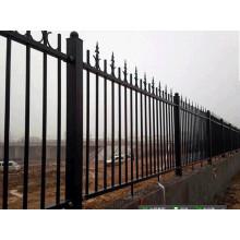 Clôture en acier inoxydable en fer forgé et clôture en fer forgé
