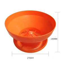 poultry chicken farm plastic chicken feed tray commercial automatic chick pan feeder