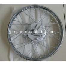 Motorcycle steel chrome rims