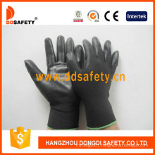 Nylon Polyester Liner Glove PU Coated on Palm and Fingers Dpu117