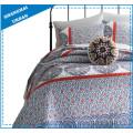 Комплект одеяла из полиэстера с синим и белым принтом из фарфора