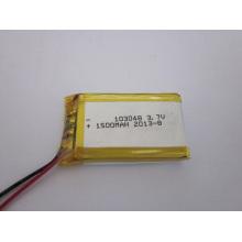 Bateria recarregável de polímero de lítio recarregável de 2016 Top Seller 1400mAh 103048