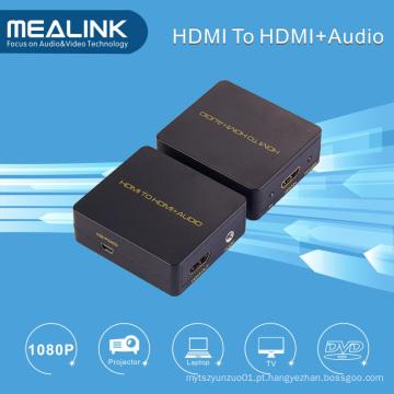 HDMI para HDMI + Conversor de Áudio