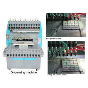 inject silicone forming guard staple dispensing machine