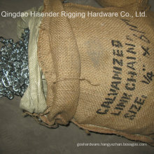 E. Galvanized Short Link Chain, Packing with Gunny Bag, The Most Competitive Price