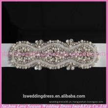 LB0003 Qualidade tecido melhor feito à mão Pulseira de strass e strass aplicada de alta qualidade para cinto de casamento 2015