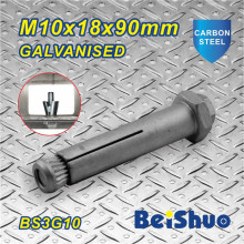M10 Blind Steelwork Box-Bolts with Galvanised Plated