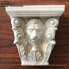 Elegant decorative furniture onlays appliques hand carved wood lion corbel wooden corbels