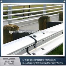 Hoch abgestufte Überlegenheit Highway Guardrail Wappen Fliesen Rollenformmaschine zum Verkauf