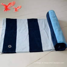 Toalhas turcas grossas personalizadas grossas azuis e roxas da fábrica de China com borlas