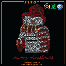 Merry Christmas Snowman grossist rhinestone applikationer