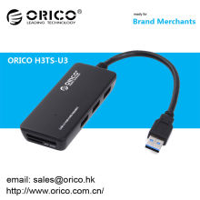 2014 Hotsell ORICO H3TS-U3 3-Port Multifunctional USB3.0 Hub with Card Reader