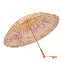 Full Bamboo Frame Manual Open OEM ODM Straight Umbrella