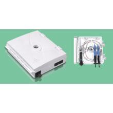 Caja de distribución / caja de distribución de fibra óptica de 2 puertos