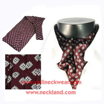 Mens New Neckwear Wholesale Silk Printed Ascot Tie Cravat