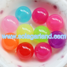 16MM 18MM acrylique translucide bonbons Gumball Chunky perle ronde