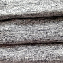 Linen Knitted Heather Grey Fabric (QF14-1546-736)