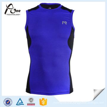 Nylon Spandex Compression Men Gym Vest Gym Wear
