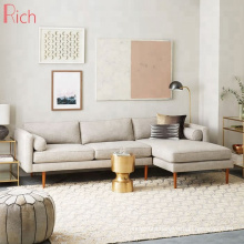 Modern Living Room Fabric Chaise Sectional Sofa For Lobby Room